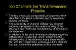 ion channels are transmembrane proteins
