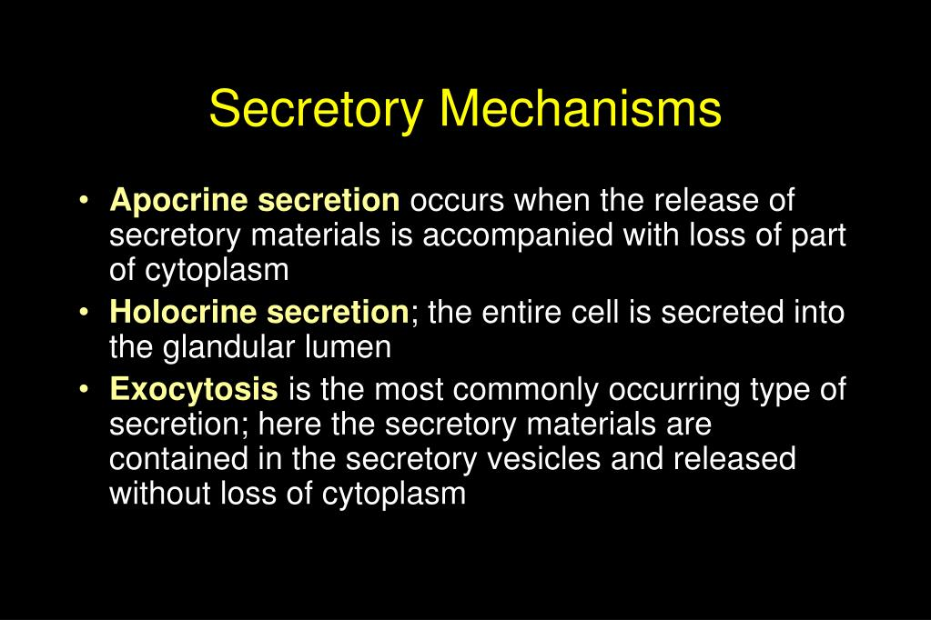 Secretory Mechanisms