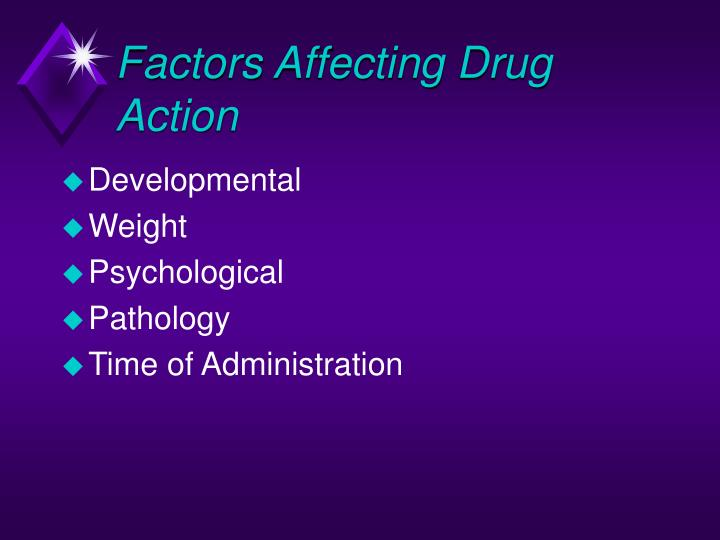 Factors Affecting Drug Action