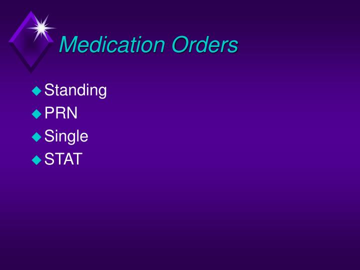 Medication Orders
