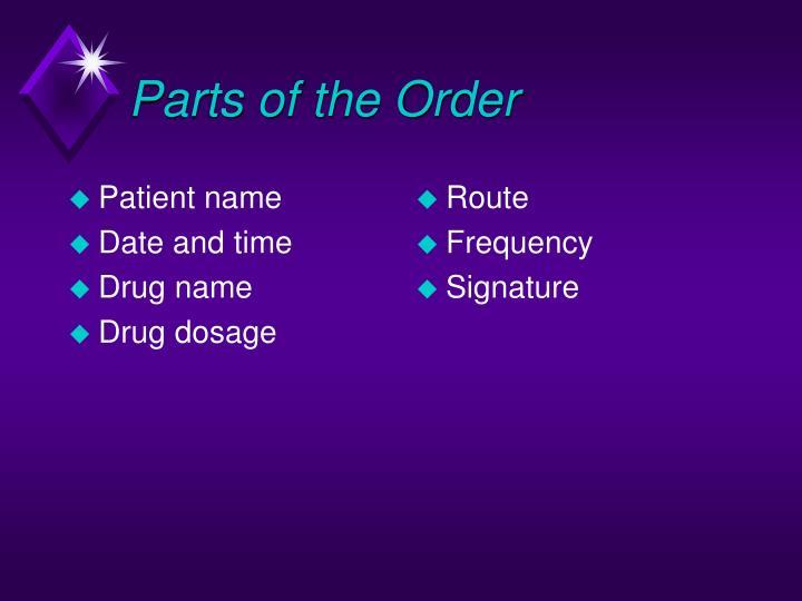 Patient name