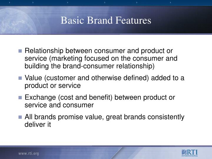 Basic Brand Features