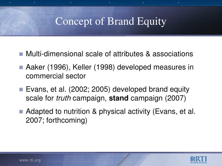 Concept of Brand Equity