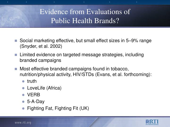 Evidence from Evaluations of