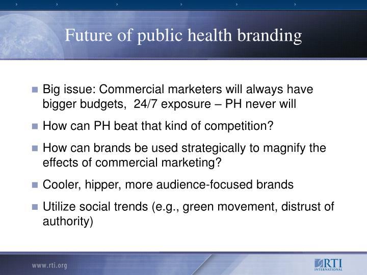 Future of public health branding