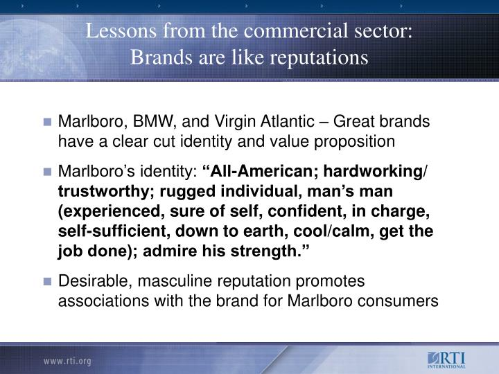 Lessons from the commercial sector: