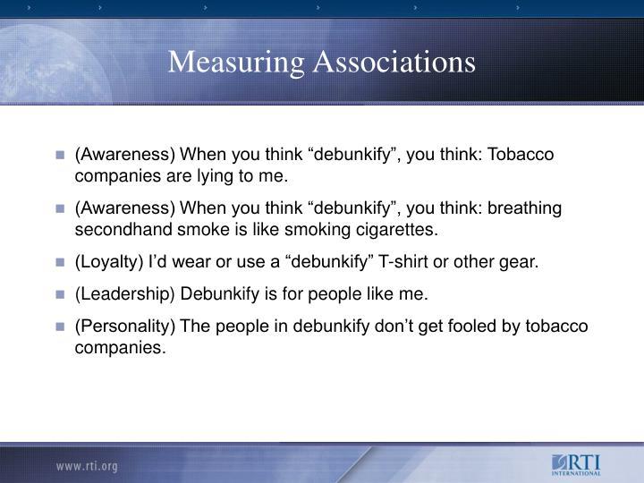 Measuring Associations