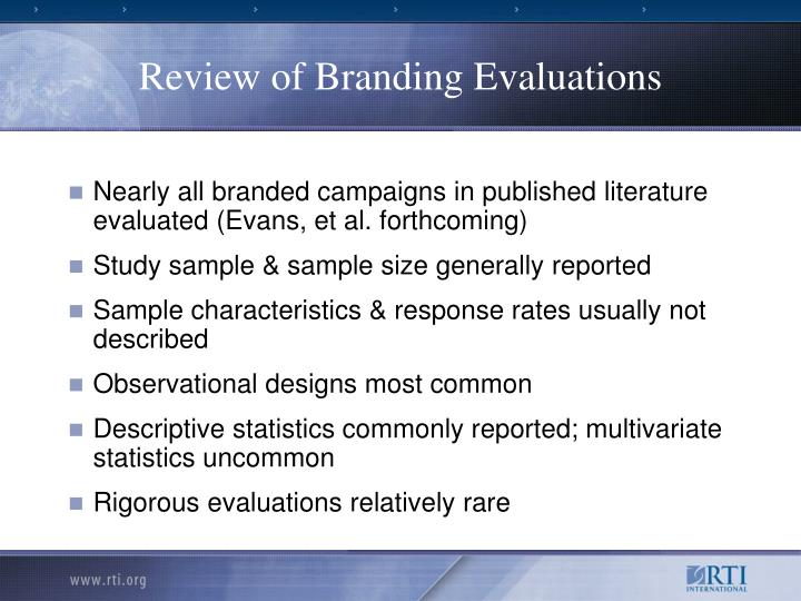 Review of Branding Evaluations
