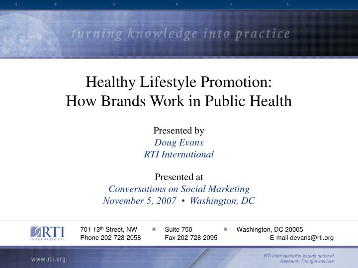 Healthy Lifestyle Promotion: