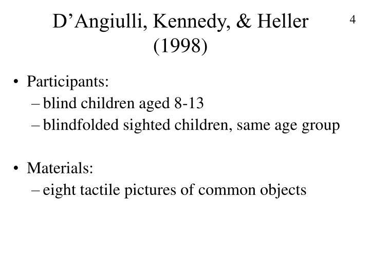 D'Angiulli, Kennedy, & Heller (1998)