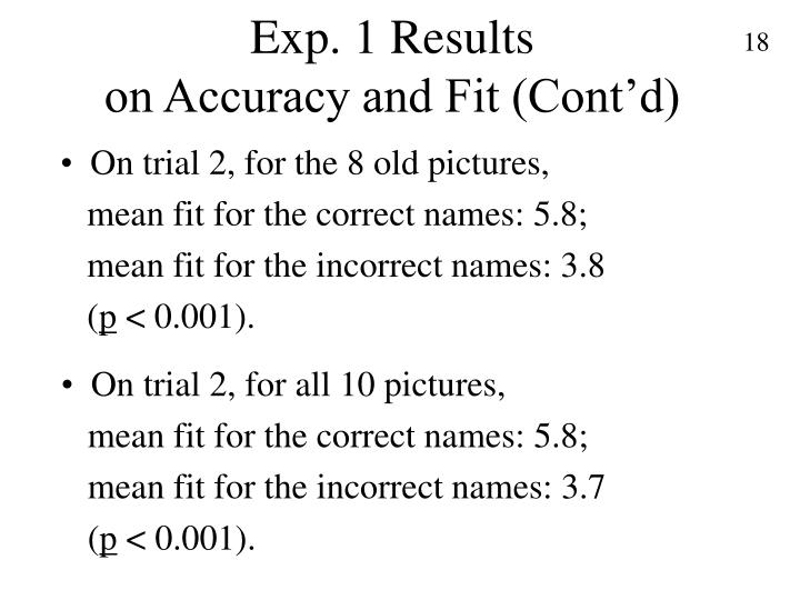 Exp. 1 Results