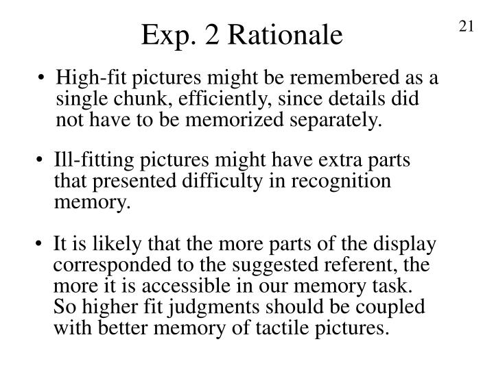 Exp. 2 Rationale