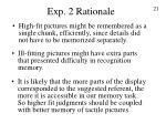 exp 2 rationale