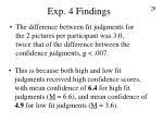 exp 4 findings