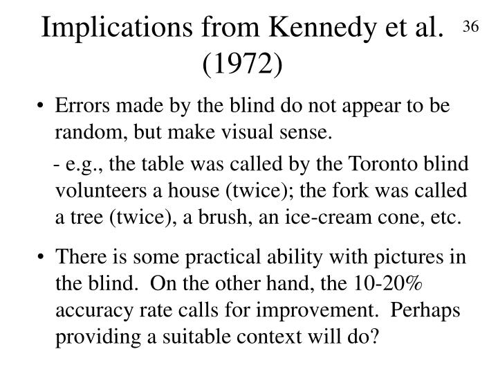 Implications from Kennedy et al. (1972)
