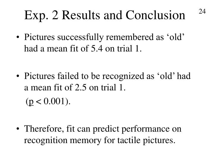 Exp. 2 Results and Conclusion