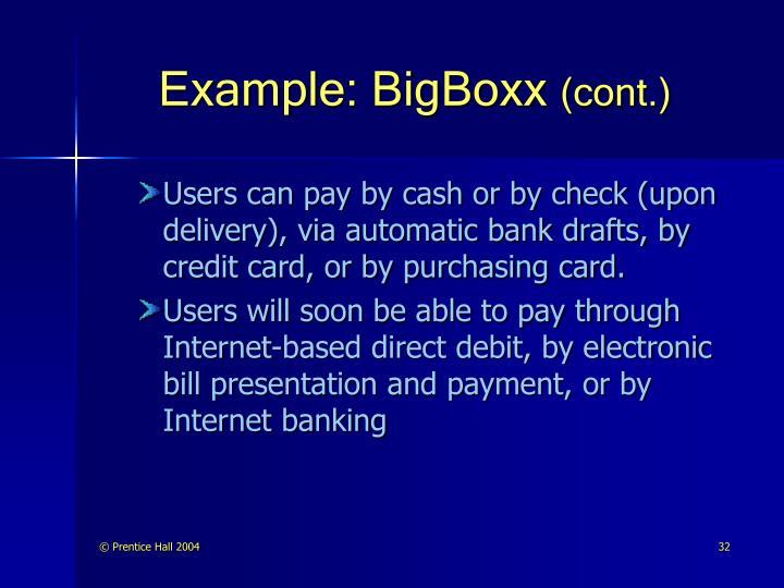 Example: BigBoxx