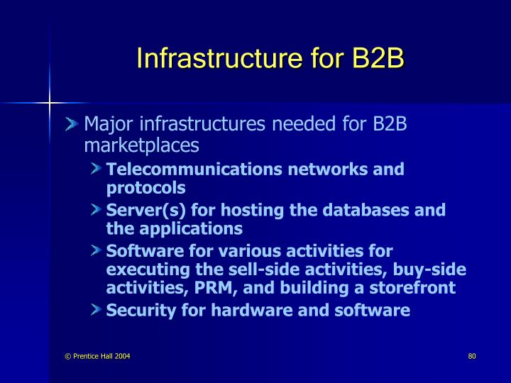 Infrastructure for B2B