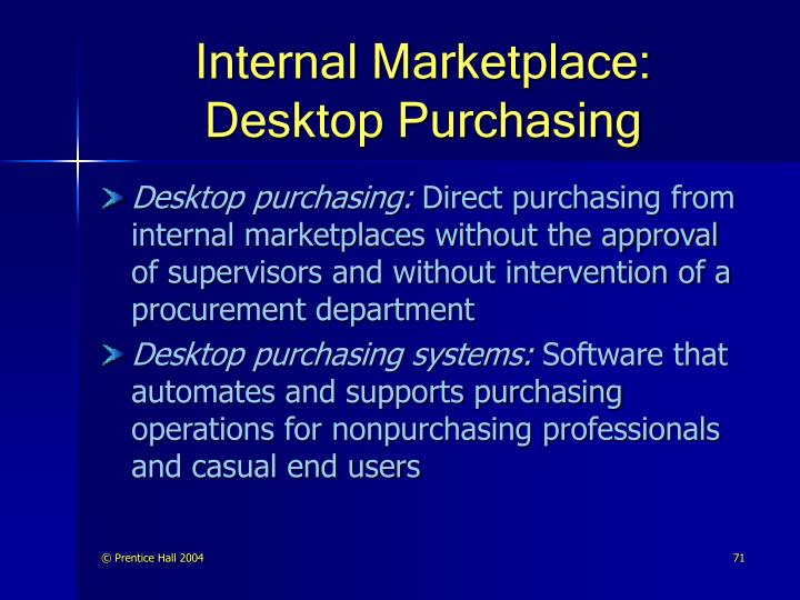 Internal Marketplace: Desktop Purchasing