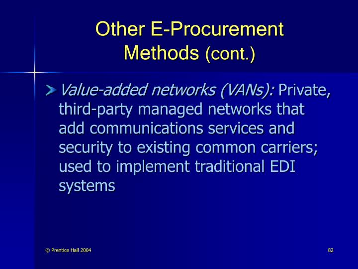 Other E-Procurement