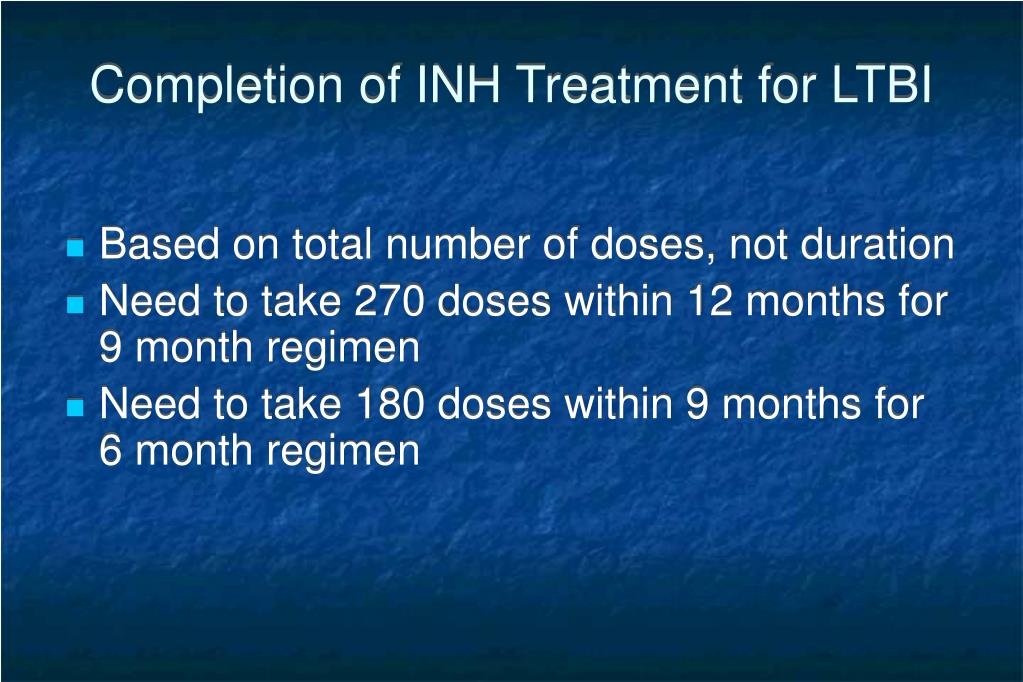 Completion of INH Treatment for LTBI