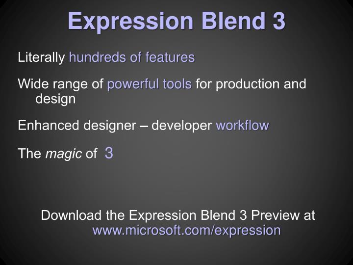 Expression Blend 3