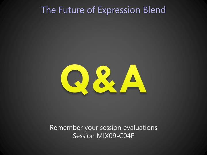 The Future of Expression Blend