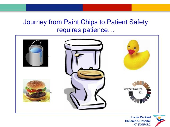 Journey from Paint Chips to Patient Safety requires patience…