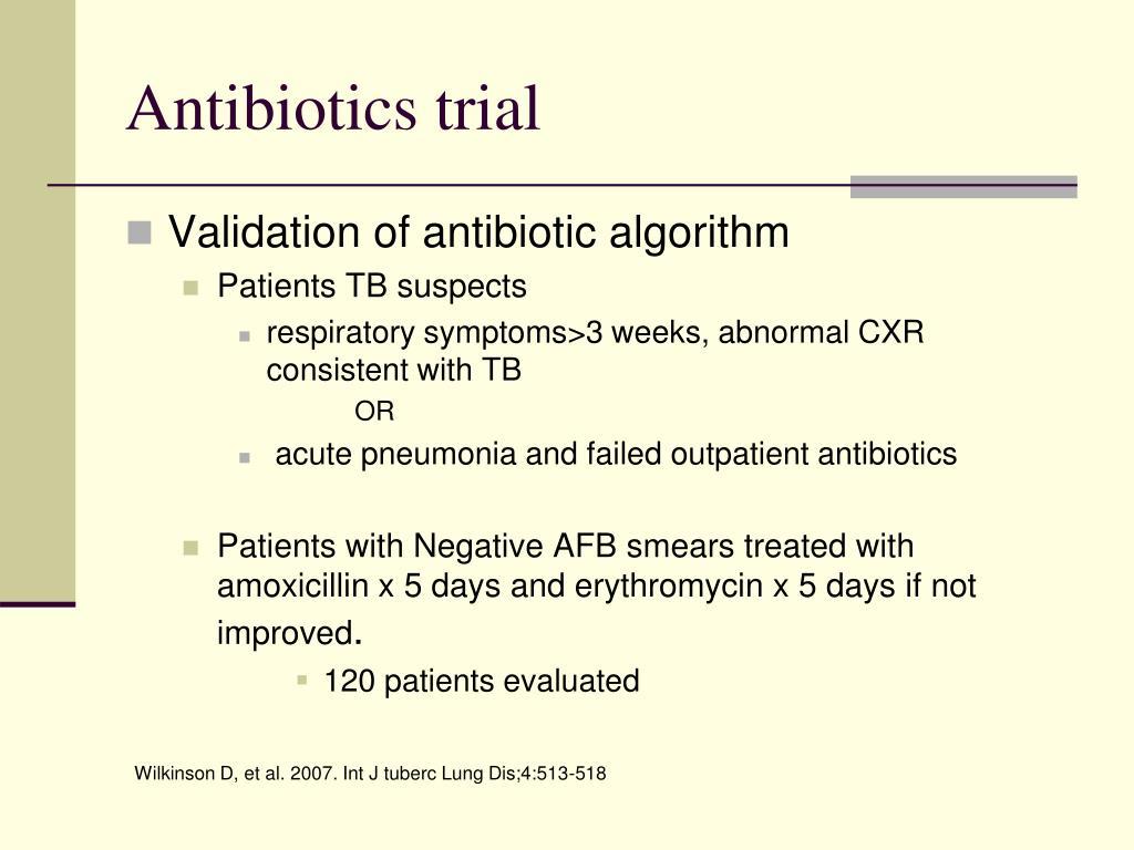 Antibiotics trial