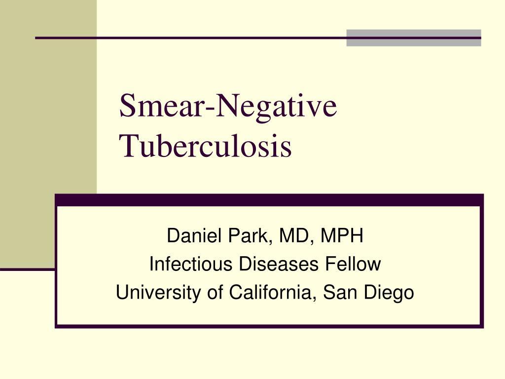 Smear-Negative Tuberculosis