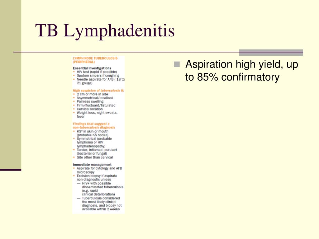 Aspiration high yield, up to 85% confirmatory