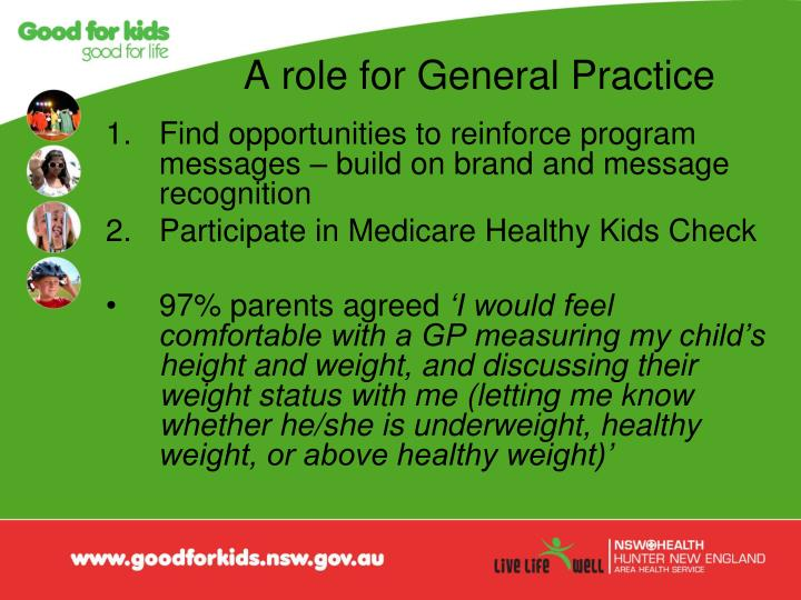 A role for General Practice