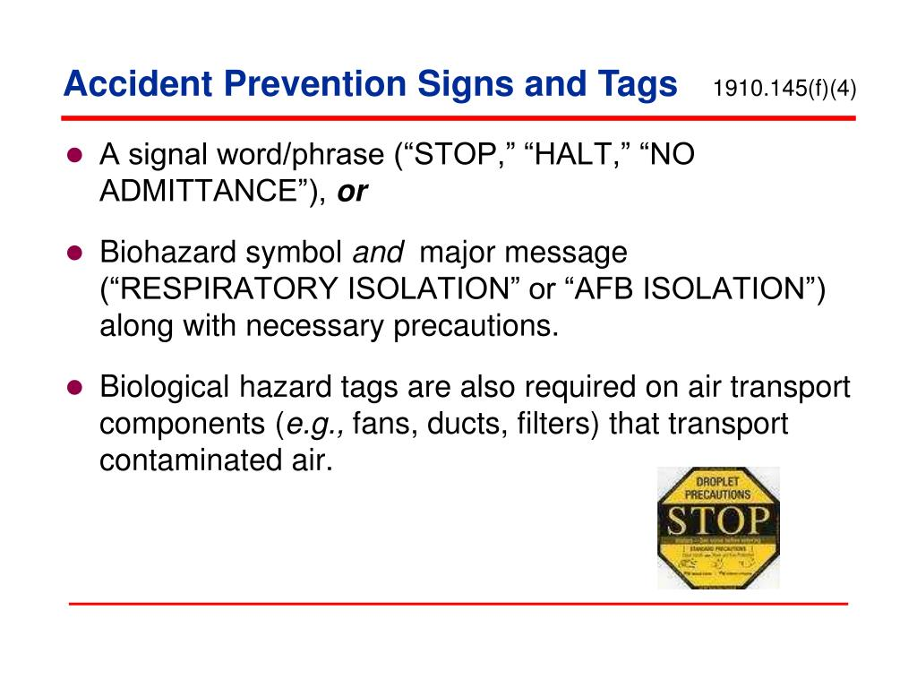 Accident Prevention Signs and Tags