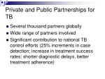 private and public partnerships for tb2