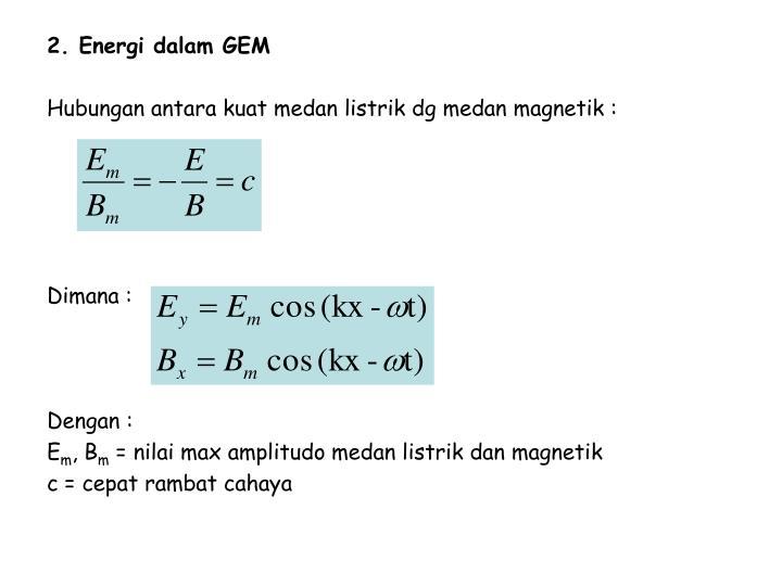 2. Energi dalam GEM