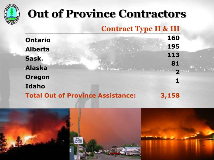 Out of Province Contractors