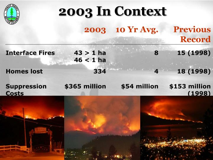 2003 In Context