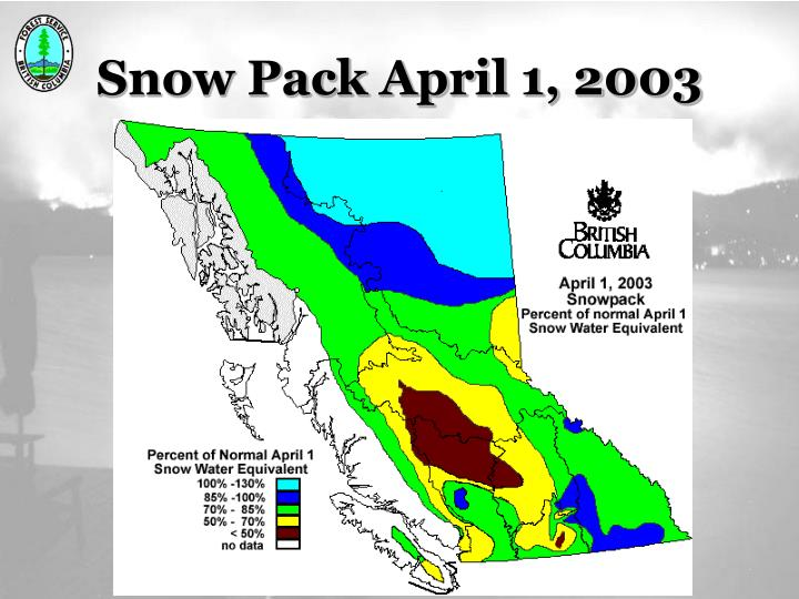Snow Pack April 1, 2003