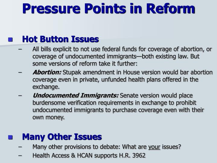 Pressure Points in Reform