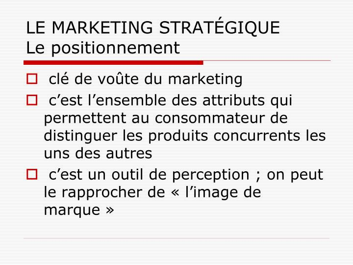 LE MARKETING STRAT