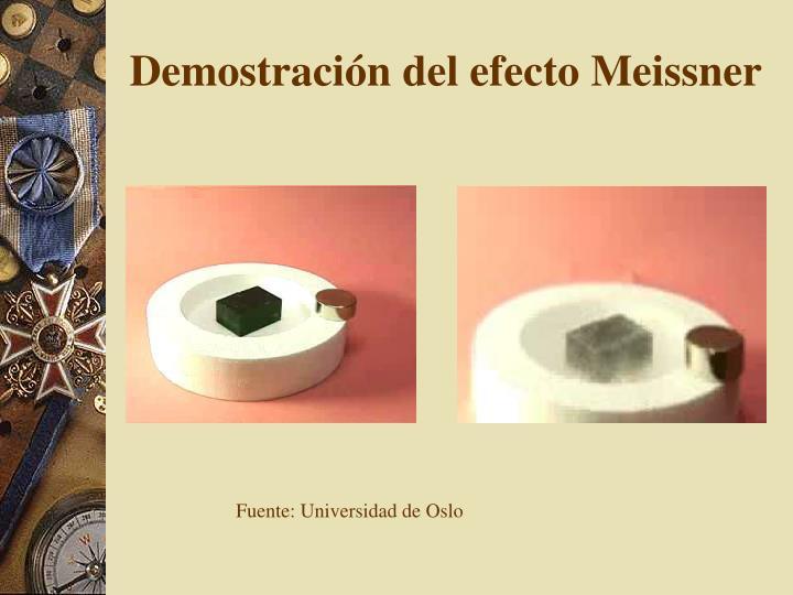 Demostración del efecto Meissner