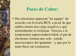pares de cobre