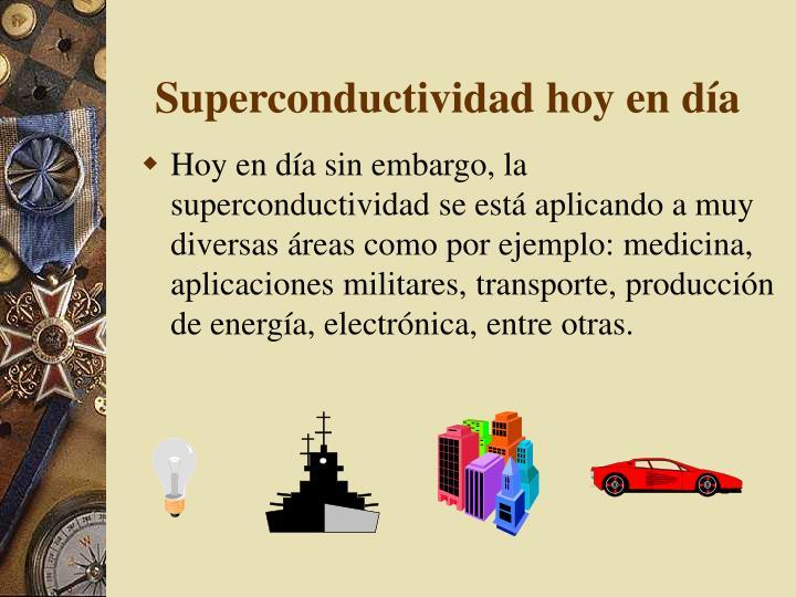 Superconductividad hoy en
