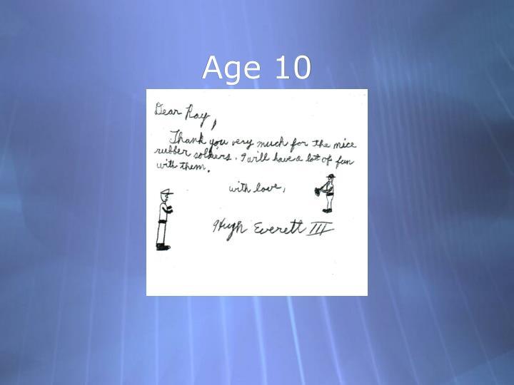 Age 10