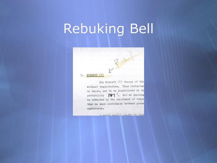 Rebuking Bell