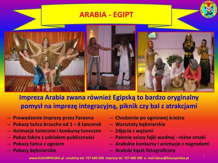 ARABIA - EGIPT