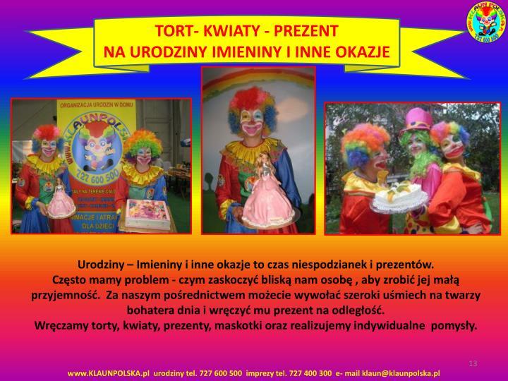 TORT- KWIATY - PREZENT