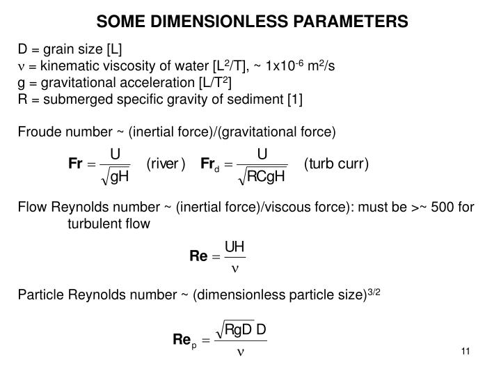 SOME DIMENSIONLESS PARAMETERS