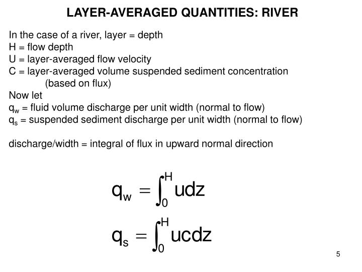 LAYER-AVERAGED QUANTITIES: RIVER