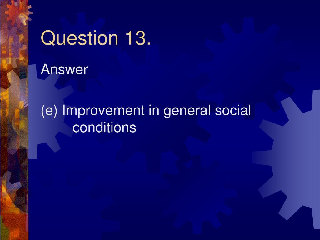 Question 13.